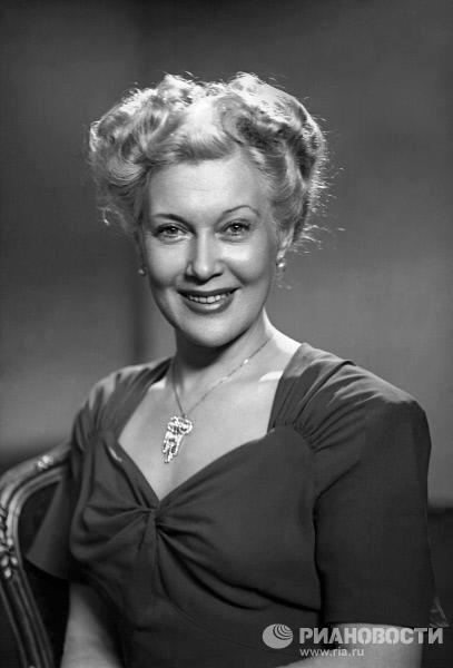 movie star Lyubov Orlova who was often called Russian Marilyn Monroe