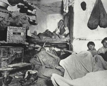 jacob-riis-lodgers-in-a-crowded-bayard-street-tenement-c1880-90s